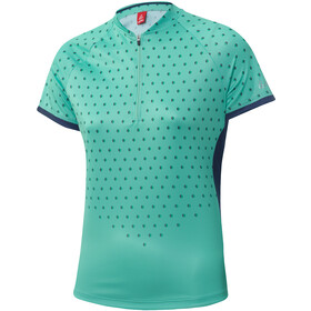 Löffler Rise Up Half-Zip Fahrrad Shirt Damen mint